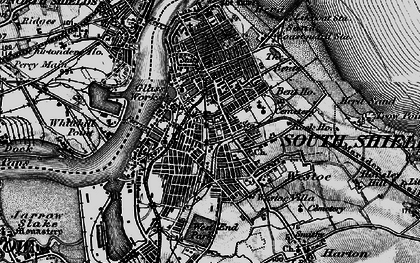 Old map of South Shields in 1897