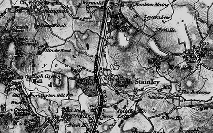 Old map of Wormald Green in 1898