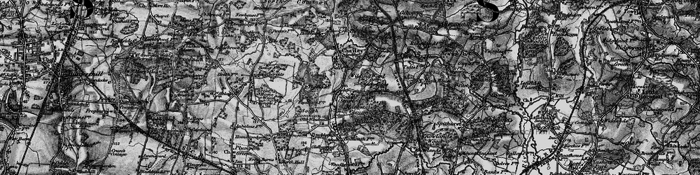 Old map of Wilding Wood in 1895