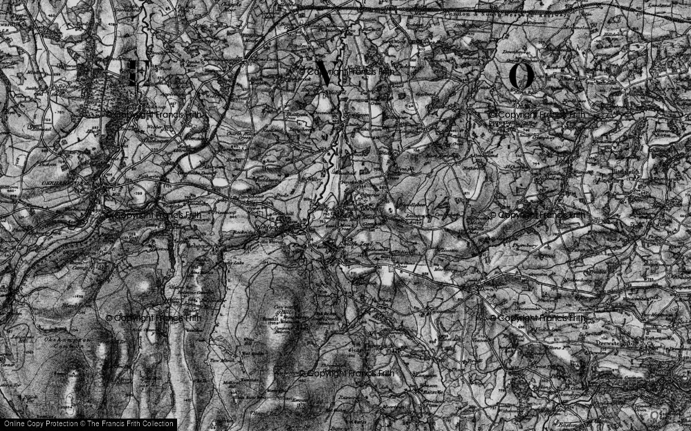 Old Map of Historic Map covering Woodball in 1898