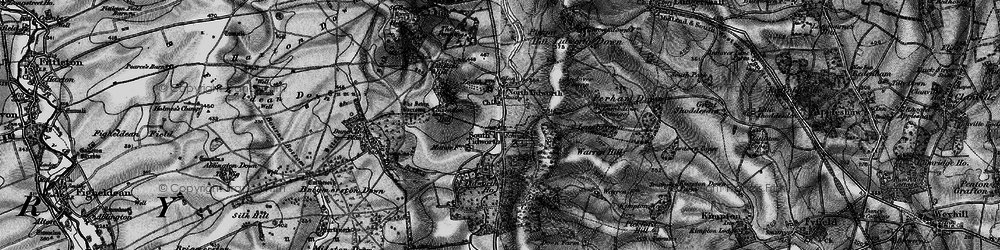 Old map of South Tidworth in 1898