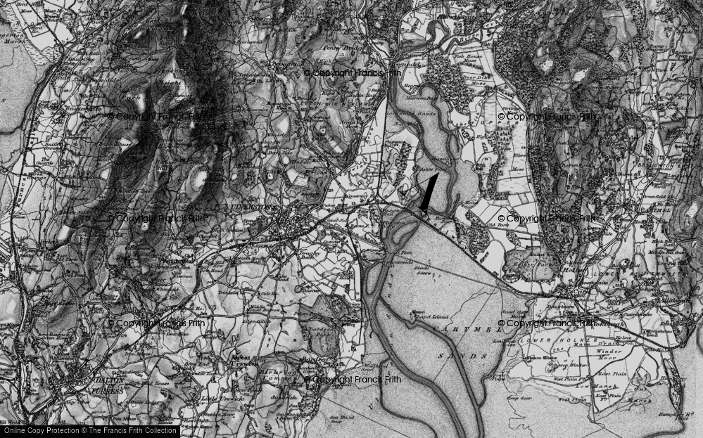 Old Map of South Ulverston, 1897 in 1897