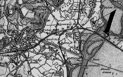 Old map of South Ulverston in 1897