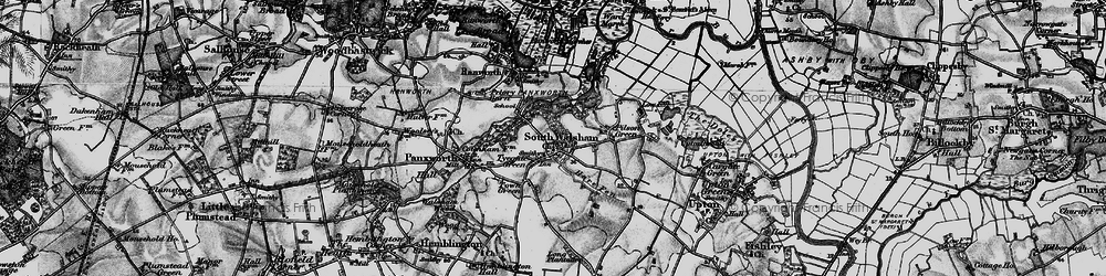 Old map of South Walsham in 1898