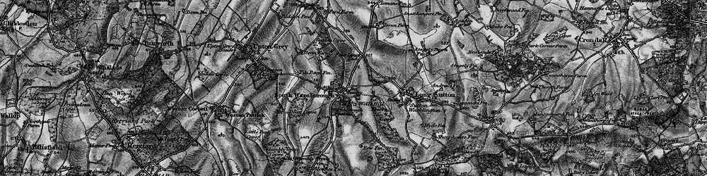 Old map of South Warnborough in 1895