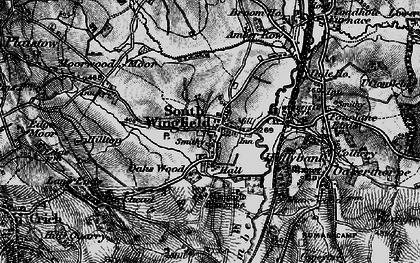 Old map of South Wingfield in 1896