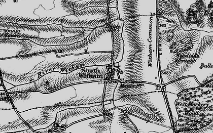 Old map of Witham Common in 1895
