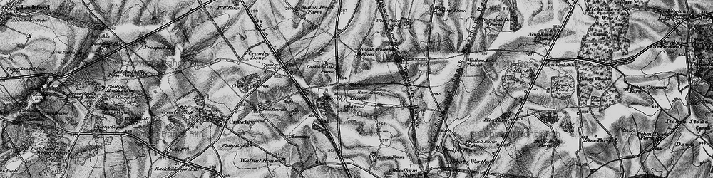 Old map of Worthy Down in 1895