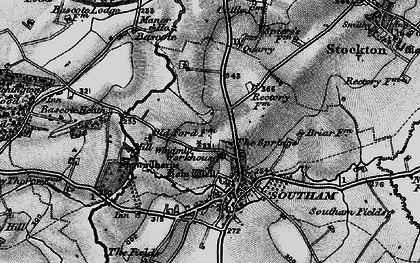Old map of Southam in 1898