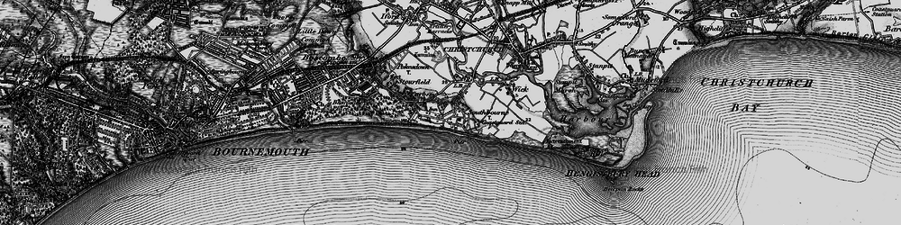 Old map of Southbourne in 1895