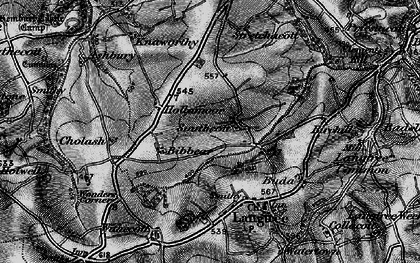 Old map of West Wooda in 1895