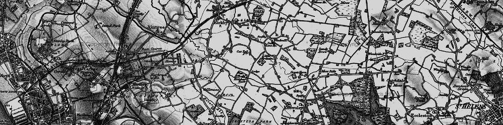 Old map of Southdene in 1896