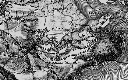 Old map of Southdown in 1896