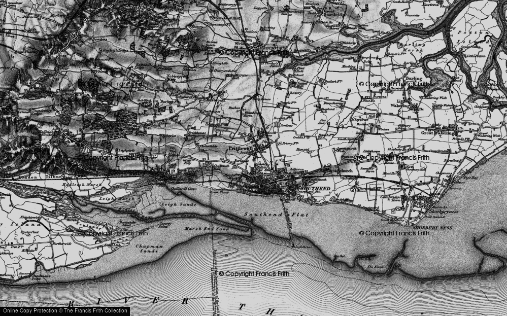 Old Map of Historic Map covering Grampian in 1896