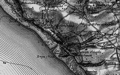 Old map of Southerndown in 1897