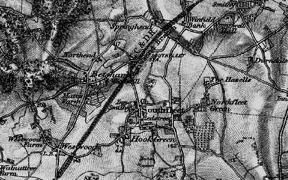 Old map of Vagniacis in 1895