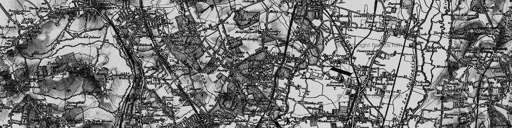 Old map of Southgate in 1896