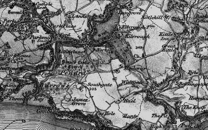 Old map of Southgate in 1897