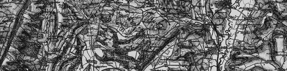 Old map of Wiscombe Park in 1897