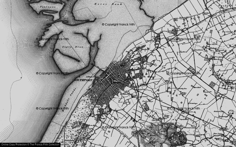Old Map of Southport, 1896 in 1896