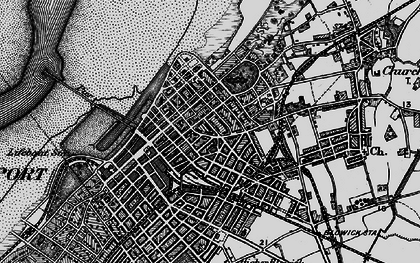 Old map of Southport in 1896