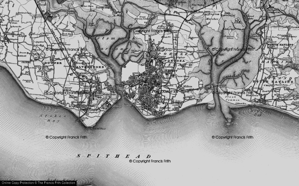Old Map of Southsea, 1895 in 1895