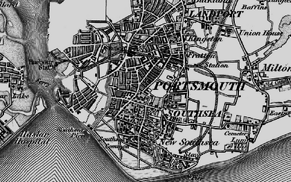 Old map of Southsea in 1895
