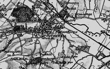 Old map of Southwell in 1899