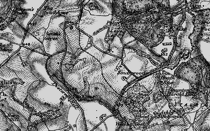 Old map of Wicket Nook in 1895
