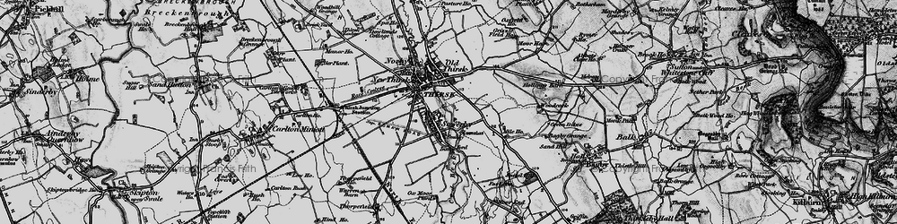Old map of Sowerby in 1898