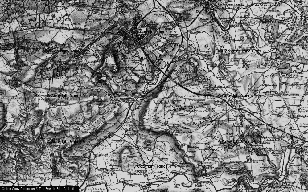 Old Map of Historic Map covering Almsford Br in 1898