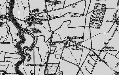 Old map of Wigsley Wood in 1899