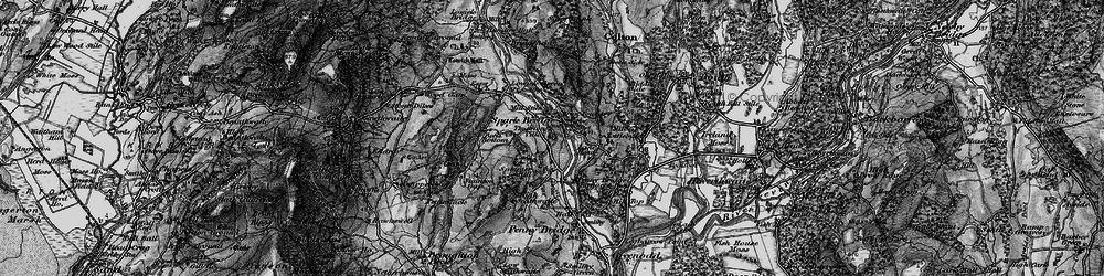 Old map of Thurston Ville in 1897