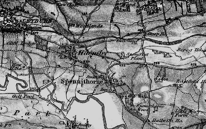 Old map of Spennithorne in 1897