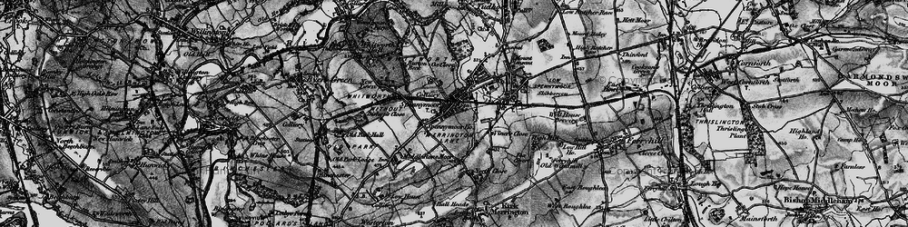 Old map of Spennymoor in 1897