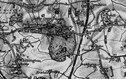 Old map of Spetchley in 1898