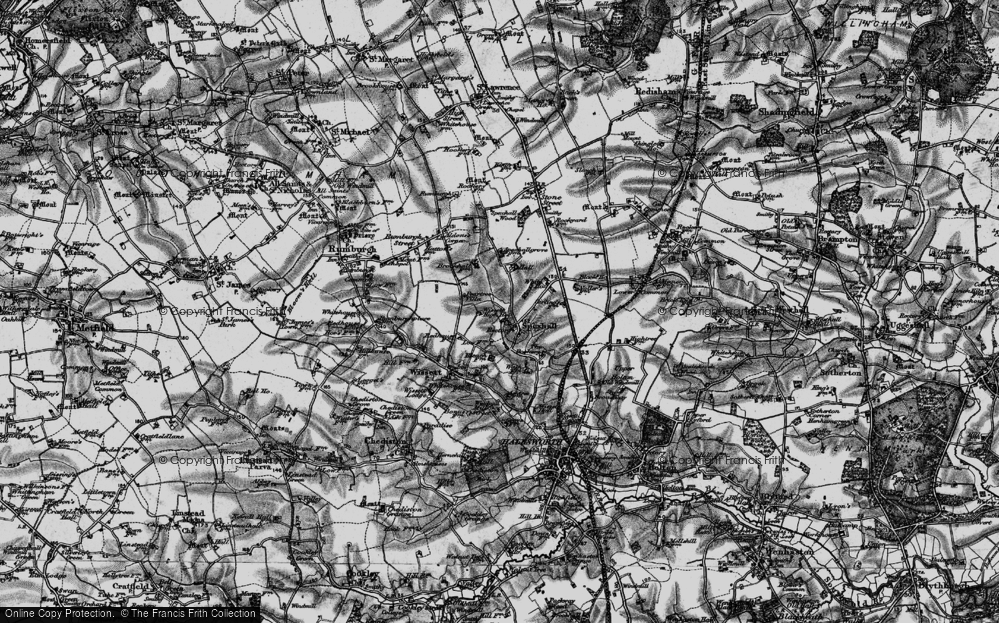 Old Map of Spexhall, 1898 in 1898