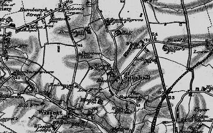 Old map of Aldous's Corner in 1898