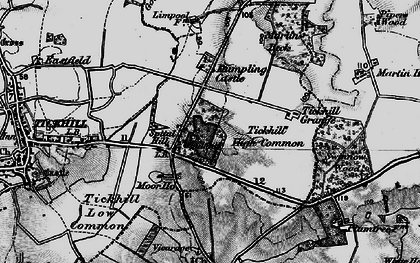 Old map of Tickhill Grange in 1895
