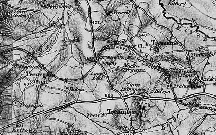 Old map of Splatt in 1895