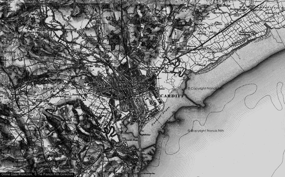 Old Map of Splott, 1898 in 1898