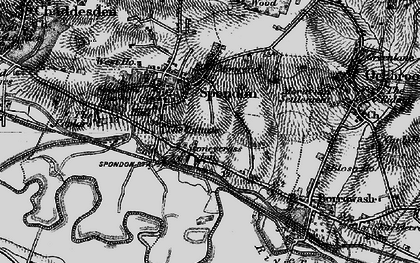 Old map of Spondon in 1895