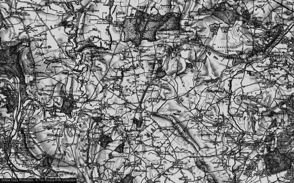 Old Map of Historic Map covering Alder Coppice in 1899