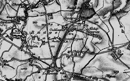 Old map of Alder Coppice in 1899