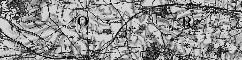 Old map of Wolferton Ho in 1898