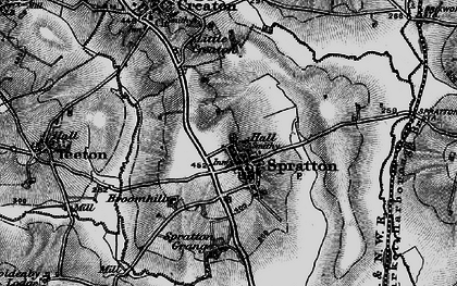 Old map of Spratton in 1898