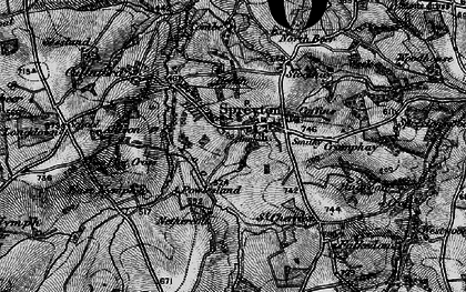 Old map of Allison in 1898