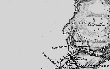 Old map of Westgillsyke in 1897