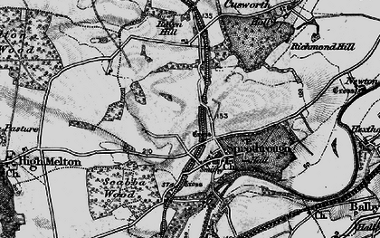 Old map of Sprotbrough in 1895