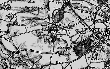 Old map of Abbey Oaks in 1896